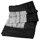 Shibori plaid black silk
