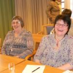 Ann-Margret, ordförande i Ängelholm, och Lilly, kassör i Ängelholm