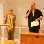 Liza Attof från ABF Skåne och Hans Hansson nyvald ordförande för länsföreningen.