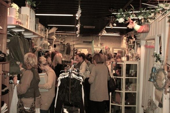 Det var många som blev shoppingsugna av visningen!