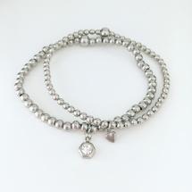 Små pärlor i rostfritt stål