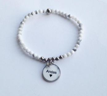 ANDAS - med små pärlor - Vita pärlor