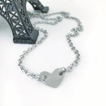 Halsband med Länkat hjärta