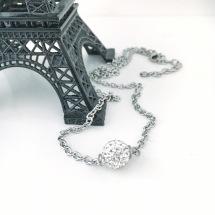 Halsband med shamballapärla