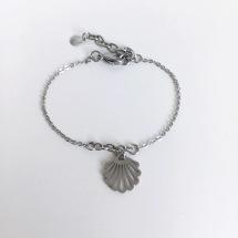 Shell - Armband med platt snäcka