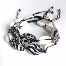 Snäckarmband - Leo/zebra