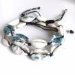 Snäckarmband - Havets blå
