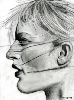 Porträtt, blyerts.