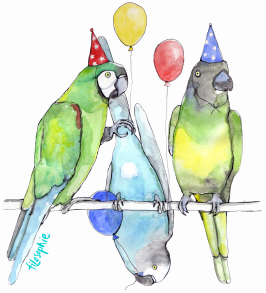 Kalasfåglar. Print till barnkläder.
