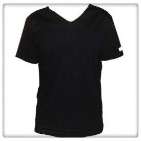 T-shirt herr v-ringad - T-shirt herr v-ringad svart S