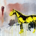 Yellow horse. 170 x 230 cm, oil on canvas. Anders Kumlien 2011.