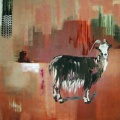 Goats year. 150 x 200 cm, oil on canvas. Anders Kumlien 2004
