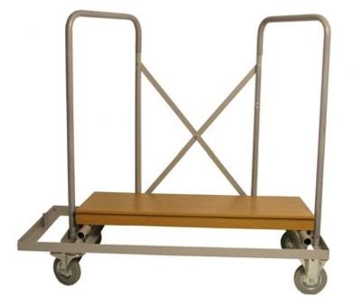 Vagn Willys. Rymmer 11 bord. Stora hjul som enkelt går över trösklar