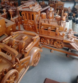 Dekorations Tåg med vagn