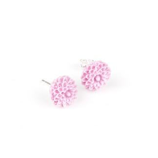Örhängen med lila krysantemum