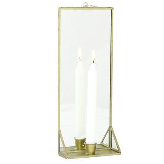 Ljusstake med spegel