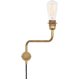 Edison Vägglampa Råmässing upp -