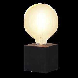 Lampfot Fyrkant Svart E27