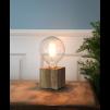 Lampfot Fyrkant Trä E27