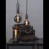 Lampfot svart/silver E27