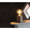 Lampfot Trä Brun E27