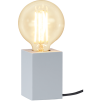 Lampfot Trä Vit E27