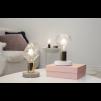 Lampfot vit/guld E27
