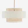 Velvet ceiling lamp w/ cane