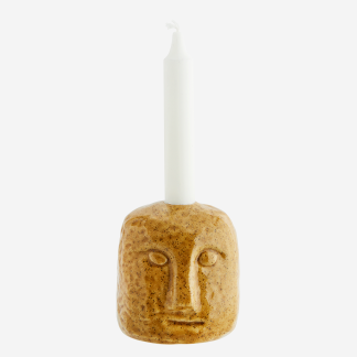 Candle holder w/ face imprint