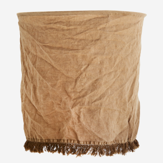 Linen lampshade w/ fringes