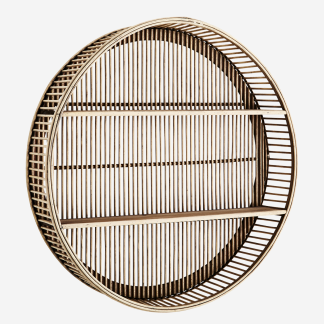 Round bamboo shelf
