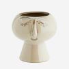 Flower pot w/ face imprint