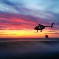 Transportflygning i gryningen