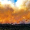 Brandrök på Salabrandens andra dag