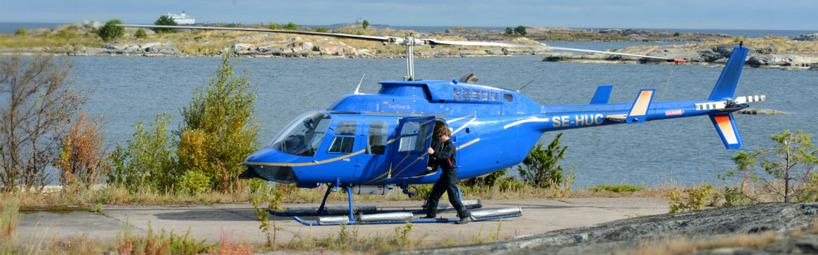 Sveriges enda Lamahelikopter