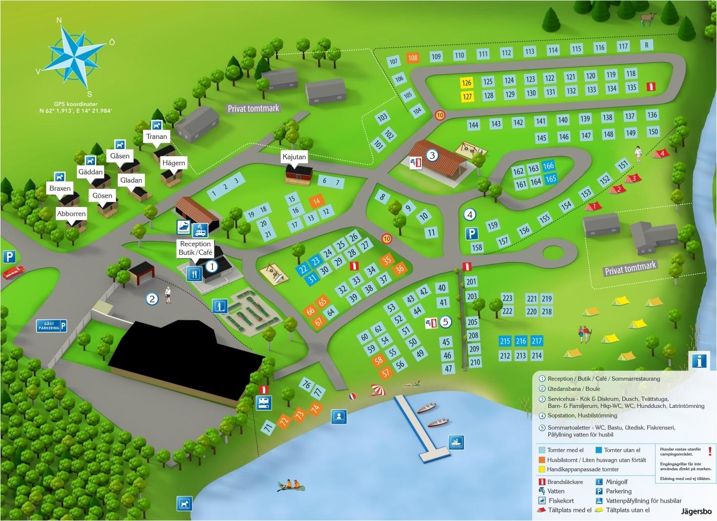 Karta Camping Skane.Karta Over Campingen Jagersbo Camping