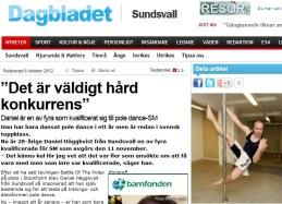Sundsvalls dagblad skriver om Daniel Häggkvist