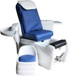 Fot Spa med Massage Relax blå/vit Pedikyrstol