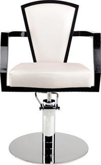 Frisörstol King Lux  - färgval Made in Europe - King svart ram med tygfärg P, rundbas
