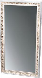 Arbetsplats Nobile Spegel, Made in Europe - Stylingunit Noble vit guld