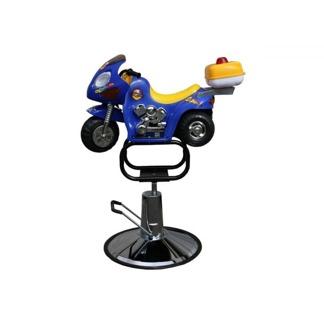 Barnklippstol Biker -Barn 2-5 År - Barnklippstol Biker blå