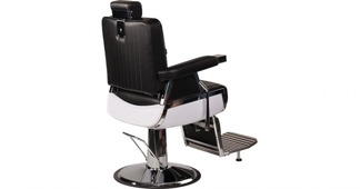 Barber Chair Elegant svart & brun -  Made in Europe - Barber Chair - Elegant  i SVART