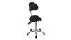 Arbetsstol NOBLE Pall Sadelpall med ryggstöd vit, svart eller grå - Arbetstol Noble i svart