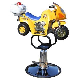Barnklippstol Biker -Barn 2-5 År gul - Barnklippstol Biker Gul