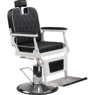 Barber Chair London svart eller brun Made in Europa - Barber Chair London svart/vit