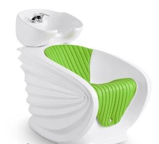 Schamponering Svan i flera färger - Schamponering Svan vit med grön sittdynan