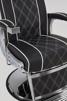 Barberarstol Borg brun eller svart med vit Made in Europe - Barberarstol Borg i svart