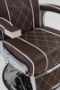 Barberarstol Borg brun eller svart med vit Made in Europe - Barberarstol Borg i brun