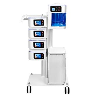 Multi enhet - Ultrasonic/ Mikroderm/Kavitationspeeling /Sonophorese /Iontophorese/D'arsonval /Vapzon / Lupplampa - Premium Multifunktiosnbehandlingssytem