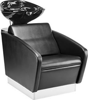 Schamponering Quadro made in Europe - Schamponering Quadro i svart med svart handfat